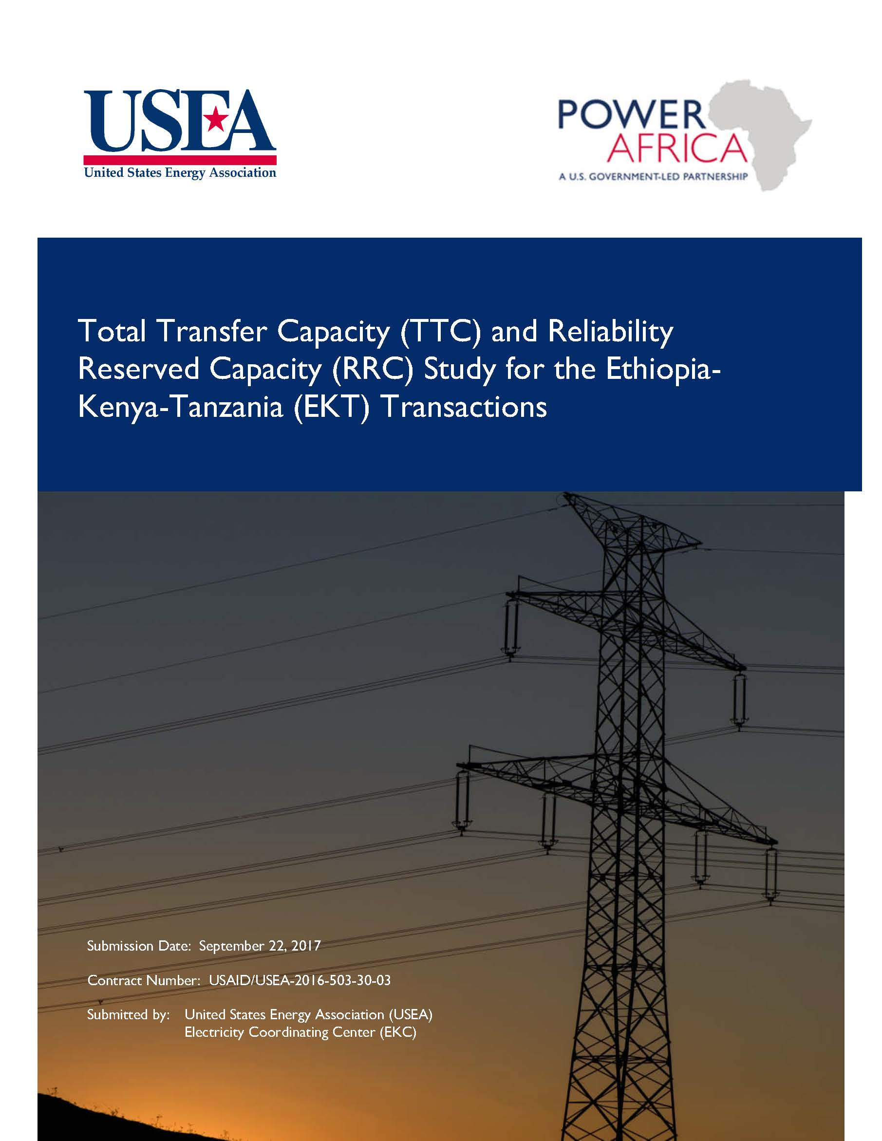 TTC and RRC Study for the Ethiopia-Kenya-Tanzania (EKT