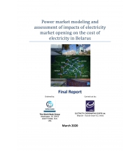 Power Market Modeling and Assessment of Impacts of Electricity Market Opening on the cost of Electricity in Belarus