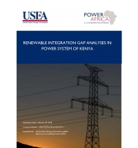 Services for Renewable Integration Gap Analyses in Power System of Kenya