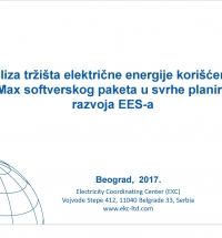Acquisition of Software Tool for Electricity Market Analysis in Scope of Power System Development Planning