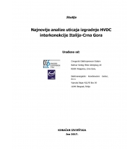 Analyses for Commissioning of the HVDC Italy-Montenegro Interconnection - Updated Study