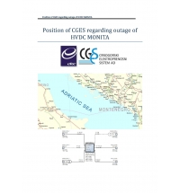 Evaluation of Position and Obligations of CGES in Cases of Outages HVDC MONITA