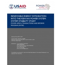 Kenya Renewables Integration – Operational Enhancements