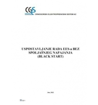 Restoration Plan of the EPS of Montenegro without External Source of Voltage (Black Start)