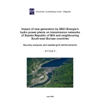 Impact of new generation by SECI Energia's hydro power plants on transmission networks of Srpska Republic of BiH and neighboring South-East Europe countries - Security analyses and needed grid reinforcements -
