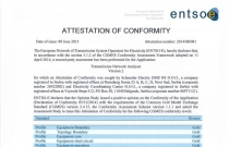 TNA Software Obtained the ENTSO-E Attestation of Conformity for CGMES Data Format